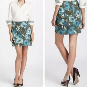 Anthro Postmark Calabria watercolor floral skirt